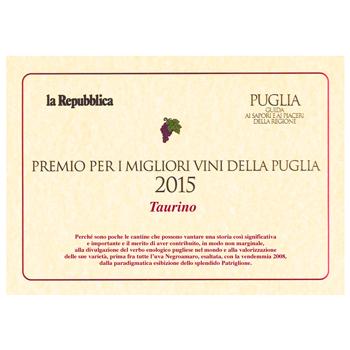 Prix pour les meilleurs vins des Pouilles édition 2015
